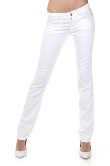 Regular Fit ROCKER Stretch Pants with Strass