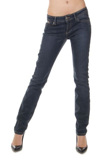 15 cm Reptile Skin Effect Denim Stretch Jeans