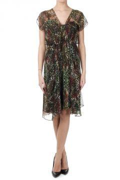 Leopard Printed Silk Dress