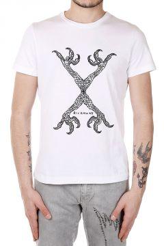 T-Shirt con Croce di Perline