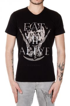 T-Shirt con Stampa EAT ME ALIVE