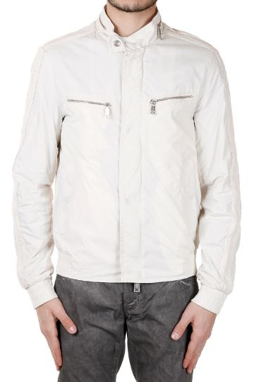 Fabric Jacket with Leather Inserts