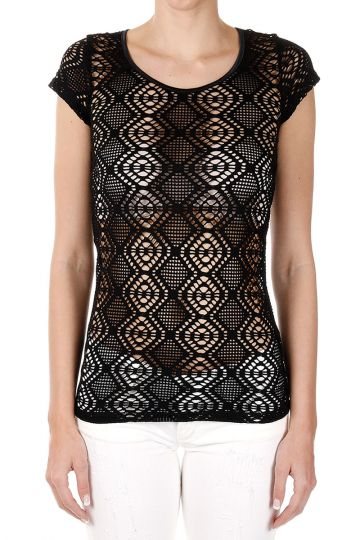 Perforated Cotton T-Shirt