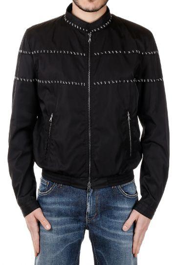 Bomber Jacket with Stitching