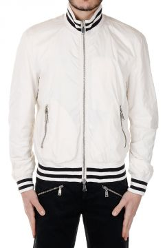 Giacca Bomber con zip