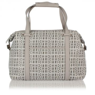 Logo Printed Fabric Hand Bag