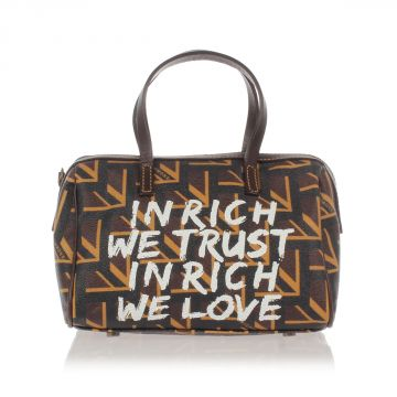 Printed Leather Mini Hand Bag