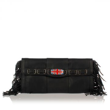 Leather Hand Bag with Fringes
