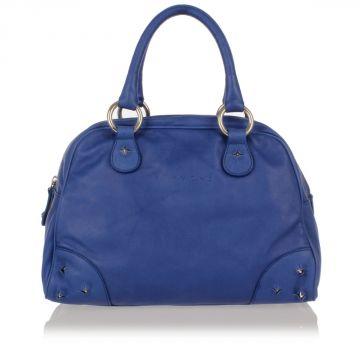 Studded Leather Hand Bag