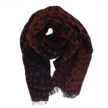 Spotted YULIAT Scarf with Fringes