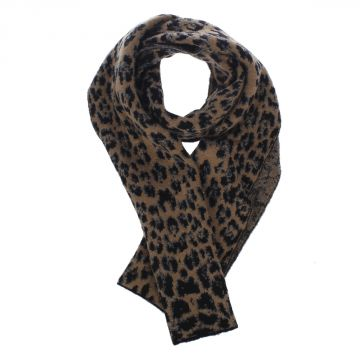 Wool Blend Spotted Scarf