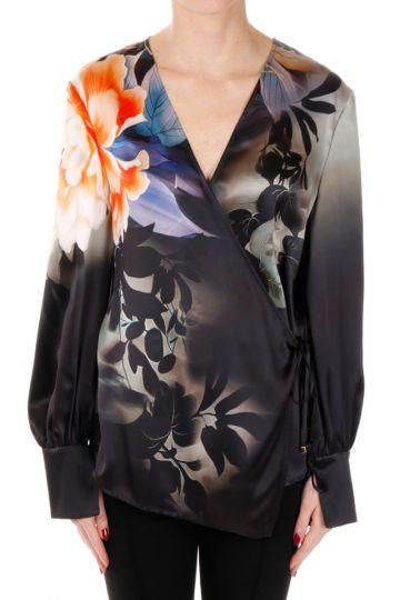 Silk Floral Print blouse