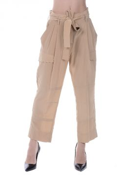 Silk Satin Cargo Pants