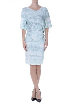 Abstract Patterned Stretch Viscose Dress