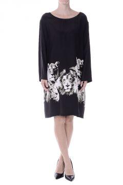 Lions Print Silk Tunic