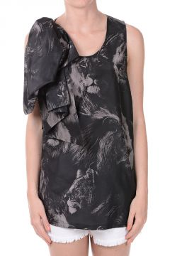 Lions Printed Silk Top