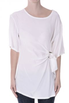 Short Sleeves Silk Top