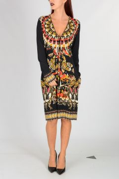 V Neck AZTECO Print Dress