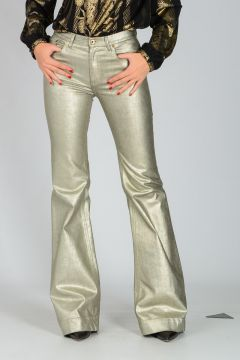 Coated Cotton Blend Pants