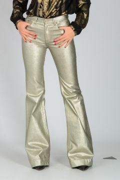 Pantalone in Cotone Misto Spalmato