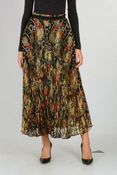 Silk blend Plisse Skirt
