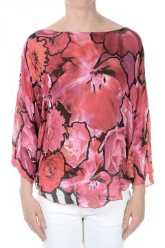 Short Kaftan Silk Blouse