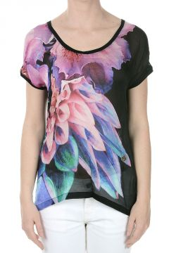 Printed Silk T-shirt