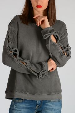 Sweatshirt Laced Sleeves