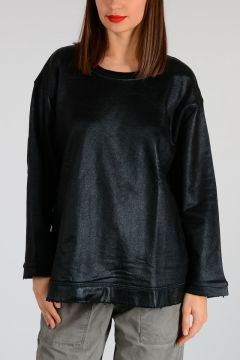 Coated Cotton Sweatshirt
