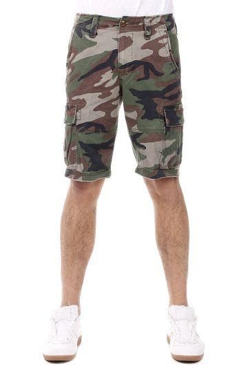 Bermuda in Cotone Camouflage