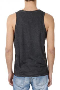 T-shirt Smanicata in Misto Cotone