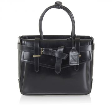Leather Handbag with belt