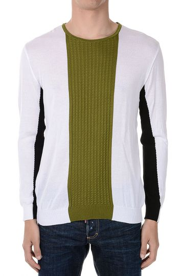 Cotton Cable Knitted Front Sweater