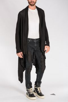 Virgin Wool LONG WRAP Cardigan