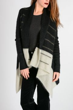 Cardigan in Misto Mohair Bicolore