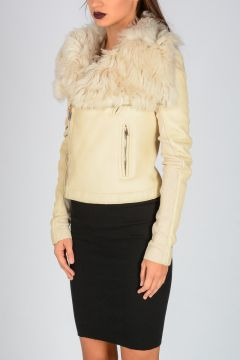 Cropped Shearling
