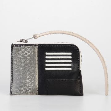 Leather ZIPPED SMALL COMBO Wallet