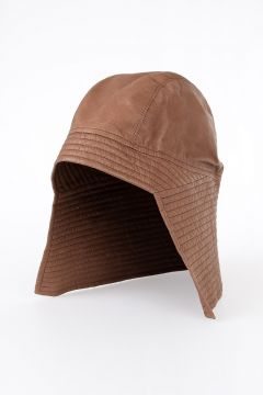 Leather SHORT HAT ORANGE