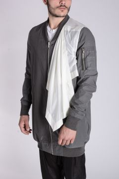 Cotton CONTAINED FLIGHT Long Jacket darkdust