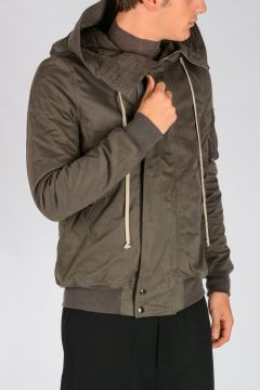 DRKSHDW Padded HOODED SHORT Bomber DARK DUST