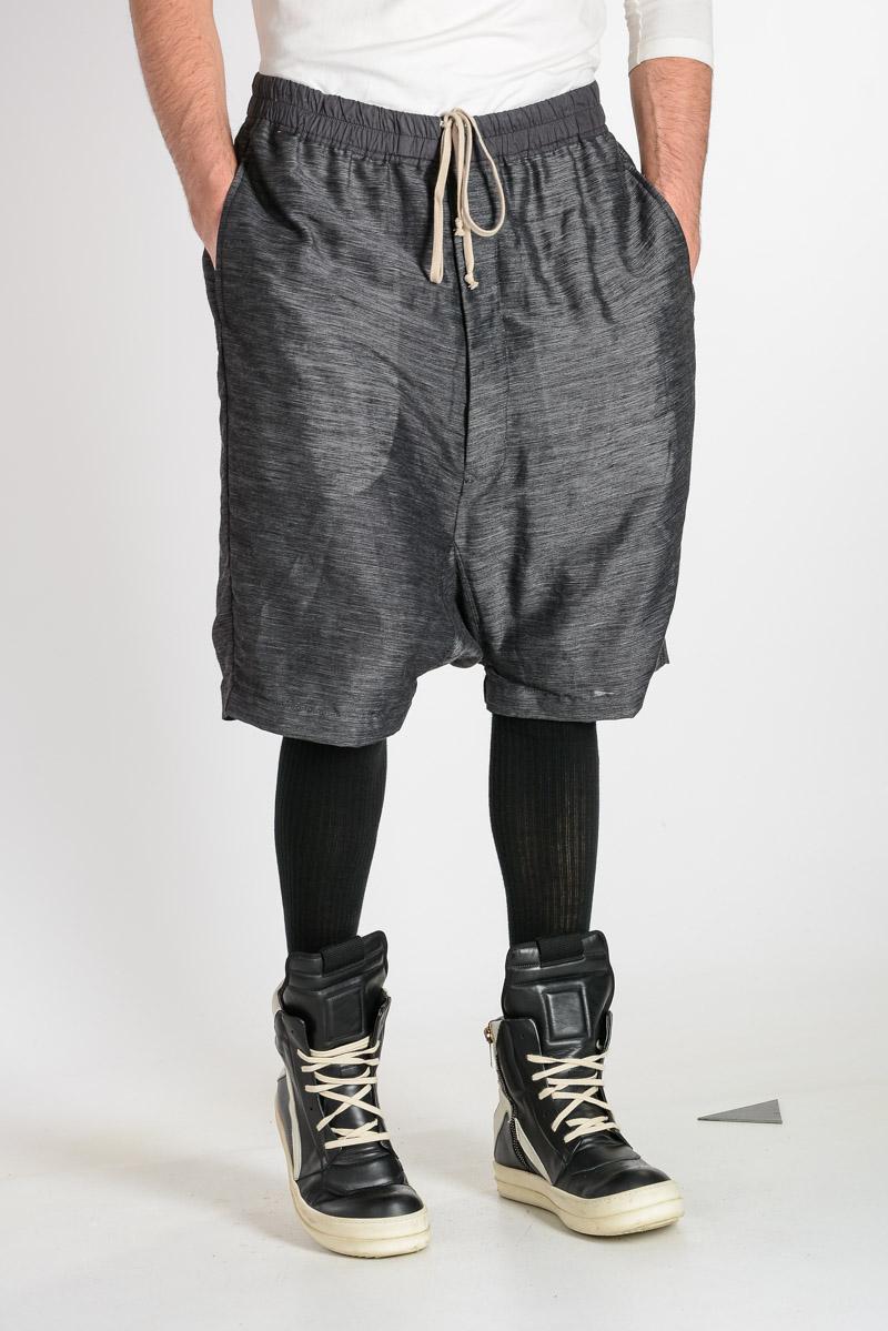 Rick Owens · Linen and Silk Blend BOXER PODS Shorts
