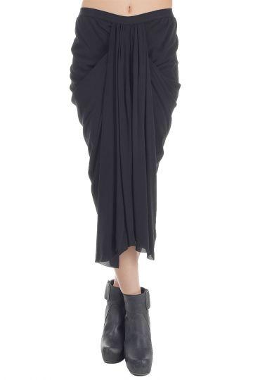 Draped Silk Skirt