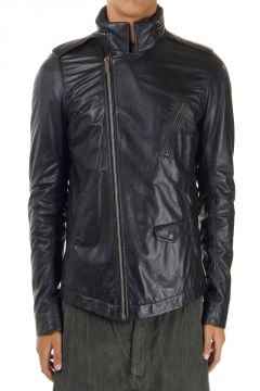 "Giacca in Pelle ""STOOGES BIKER SECRET HOOD QUILTED"""