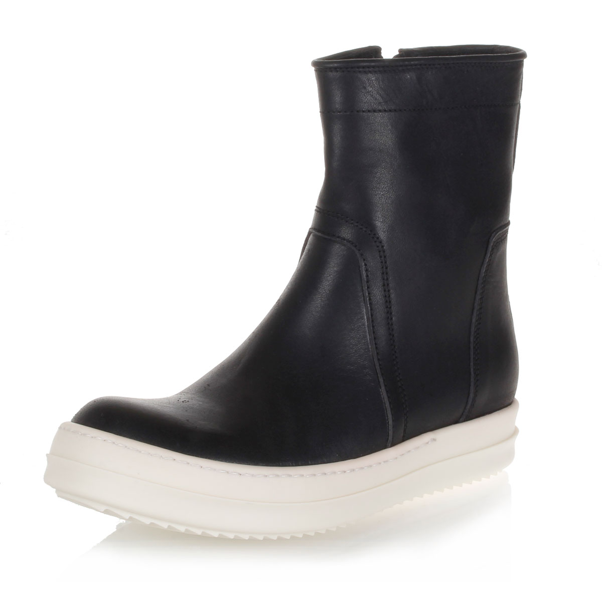 Rick Owens Uomo Stivaletto VICIOUS in pelle - Glamood Outlet 3dff4339747