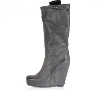 Pull On BIKER Boots with Wedge Heel 14 cm