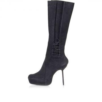 Vintage Leather WADER Boots Heel 13 cm