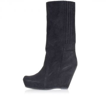 Pull On Boots with Wedge Heel 14 cm