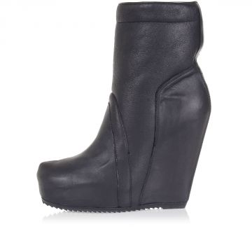 Leather PULL ON 13 cm Wedge Boot