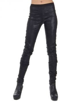 Leggings misto pelle stretch