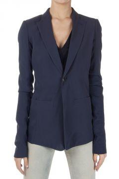 LONG BLAZER Silk Jacket